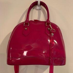 Auth Furla Pink Satchel/Crossbody Bags,Medium (T6)